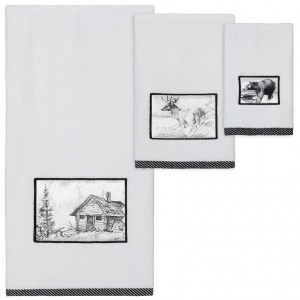 Pencil Sketches Black and White Towels