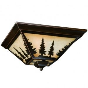 Yosemite Pine Tree Flush Ceiling Light