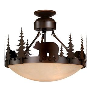Bozeman Bear Semi-Flush Ceiling Light