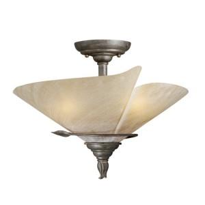 Capri Leaf Semi Flush Ceiling Light