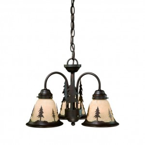 Yosemite Pine Tree 3 Light Chandelier/Light Kit