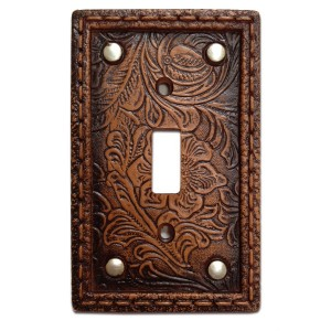 Faux Leather Resin Switch Plates