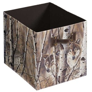 Fleeting Glimpse – Wolves Folding Storage Bin