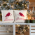 Seasons Greeting Pillow Set of 2  10 x 10