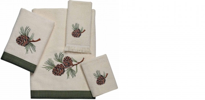 Pine Creek Pine Cone Towel Set