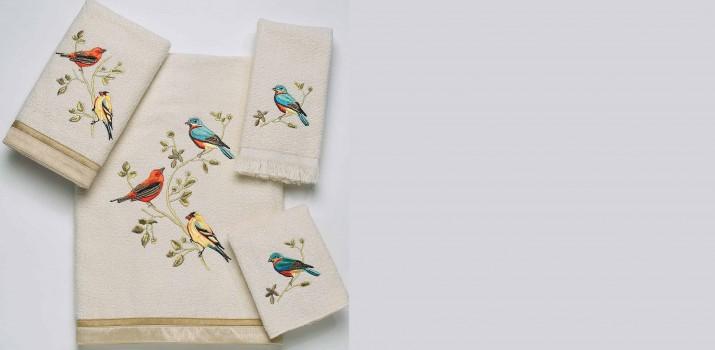 Gilded Birds Towel Set