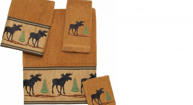 Forestry Moose Bath Towels