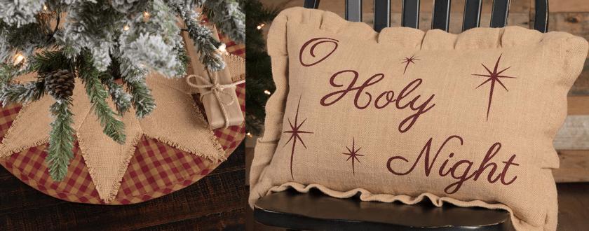 Burgundy Check Cabin Christmas Coordinates